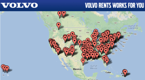 map of BlueLine Rental local equipment rental centers