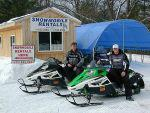 snowmobile rentals in N. Michigan