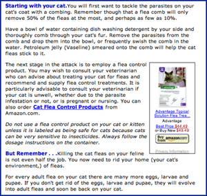 Best-Cat-Art.com offers advice on eradicating fleas.