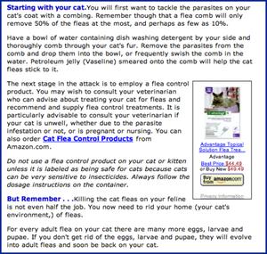Best-Cat-Art.com offers advice on eradicating fleas.