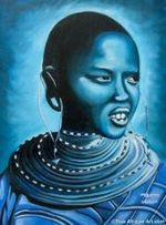 "African Artist Maryann Muthoni's ""Blue Day"""