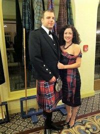 Matthew wearing Clan MacTavish Scottish Highland Tartan