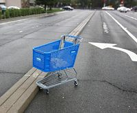 A lone shopping cart. Photo by Robert Couse-Baker, Flickr Creative Commons