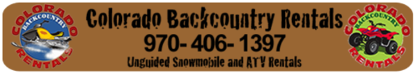 Summit County Snowmobile and ATV Rentals